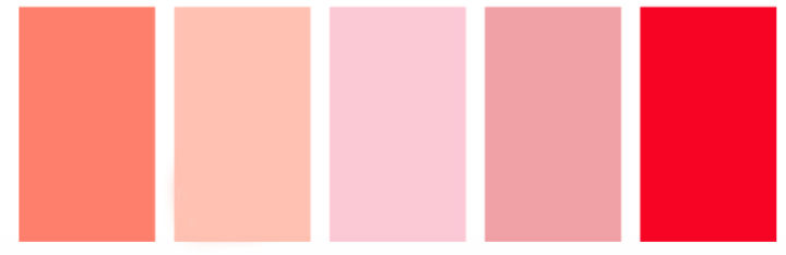 paleta de colores día de los enamorados